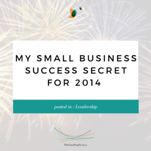 MY SMALL BUSINESS SUCCESS SECRET FOR 2014 via Shelley Cox, CEO & Founder of TheCoachingNest.ca