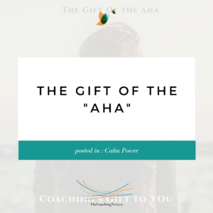 GIFT OF AHA via Shelley Cox, CEO & Founder of TheCoachingNest.ca